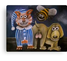 The bee's knees, the cat's pyjamas and the dog's bollocks Canvas Print