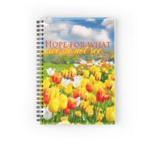 Hope for what we do not see. Romans 8:25 Spiral Notebook