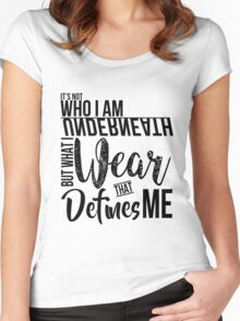 FunnyBONE What Defines Me (Black) Women's Fitted Scoop T-Shirt