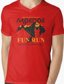 Mordor Fun Run Mens V-Neck T-Shirt
