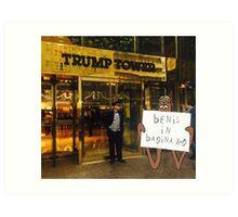 Gondola visits Trump Tower Art Print