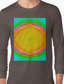 Psychedelic Sunburst - Bright Yellow & Green Long Sleeve T-Shirt