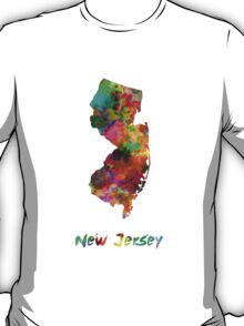 New Jersey US state in watercolor T-Shirt