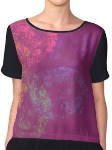 pink with colorful spiral Chiffon Top