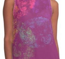 pink with colorful spiral Contrast Tank
