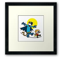 Dynamic Duo Calvin and Hobbes Framed Print