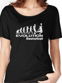 Evolution of Basketball Sport Funny Women's Relaxed Fit T-Shirt