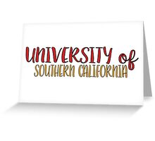 University of Southern California Greeting Card