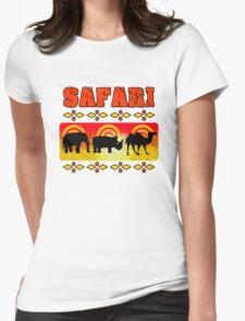 Safari Wild Life Hunt Womens Fitted T-Shirt