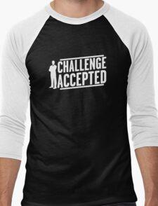 Funny BIG CHALLENGE ACCEPTED Men's Baseball ¾ T-Shirt