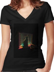 Electricat Women's Fitted V-Neck T-Shirt