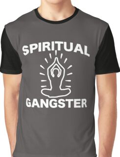Funny Yoga Spiritual Gangster Graphic T-Shirt