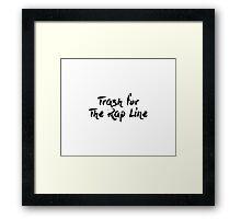 Rap Line Framed Print