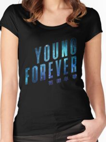 Young Forever - Blue Women's Fitted Scoop T-Shirt
