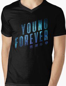 Young Forever - Blue Mens V-Neck T-Shirt