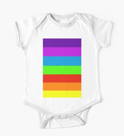 Neon fluorescent 7 Rainbow Colours One Piece - Short Sleeve