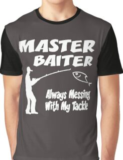 Master Baiter Funny Fishing Graphic T-Shirt
