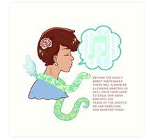 snake son Art Print