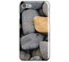 Lone red pebble iPhone Case/Skin