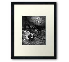 The defeat of leviathan - Gustave Dore  Framed Print