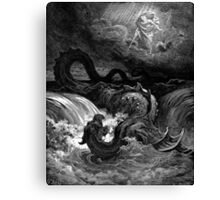 The defeat of leviathan - Gustave Dore  Canvas Print
