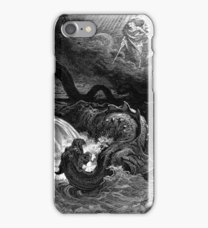 The defeat of leviathan - Gustave Dore  iPhone Case/Skin
