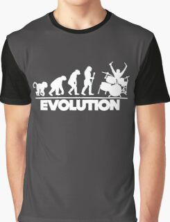 The Evolution Of The Drummer Graphic T-Shirt