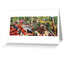 Cicada Landscape Greeting Card