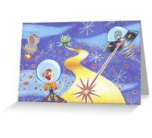 Sci Fi Wizard of Oz Greeting Card