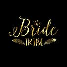 Black Circle Gold text-The Bride tribe by artonwear