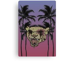 Tiger With Them Palms Canvas Print