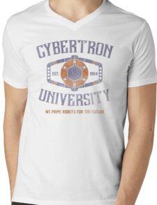 Cybertron University Mens V-Neck T-Shirt