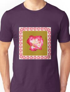 Red and Cream Rose Unisex T-Shirt