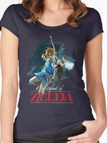 The Legend of Zelda: Breath of the Wild Artwork 3 Women's Fitted Scoop T-Shirt