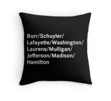 Hamilton Names Throw Pillow