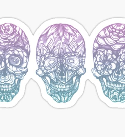 Candy Skulls Sticker