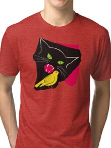The Cat and the Canary Tri-blend T-Shirt