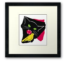 The Cat and the Canary Framed Print