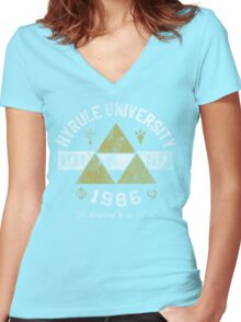 Hyrule University Women's Fitted V-Neck T-Shirt