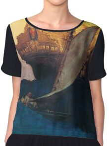 Pyle Pirate Ship Women's Chiffon Top