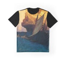 Pyle Pirate Ship Graphic T-Shirt