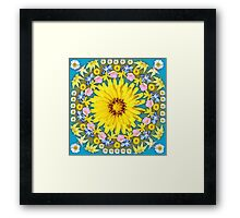 Yellow Everlastings with other Wildflowers Framed Print