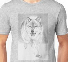 soft snowy day for wolf Unisex T-Shirt