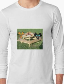 Cats Ready For A PicNic Long Sleeve T-Shirt