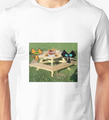 Cats Ready For A PicNic Unisex T-Shirt