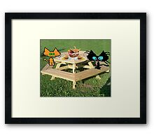 Cats Ready For A PicNic Framed Print