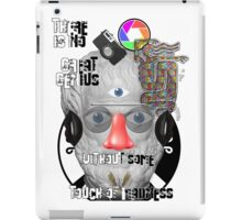 """""""There is no great genius without some touch of madness."""" - Aristotle iPad Case/Skin"""