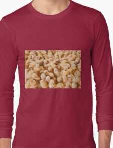 Large Group Of Baby Chicks On Chicken Farm Long Sleeve T-Shirt