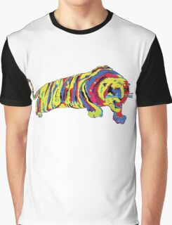 Psychedelic Kitty Graphic T-Shirt