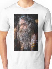 Aboriginal fullblood portrait on paperbark Unisex T-Shirt